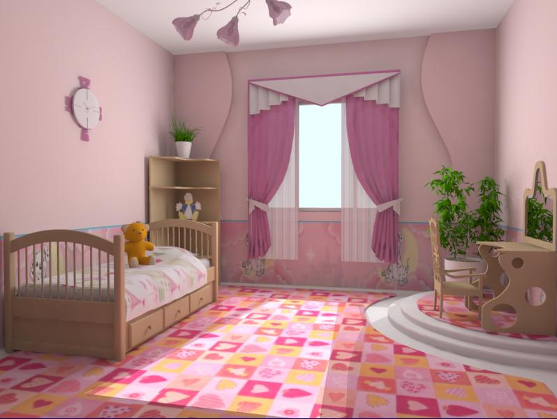 При выборе дизайна детской комнаты