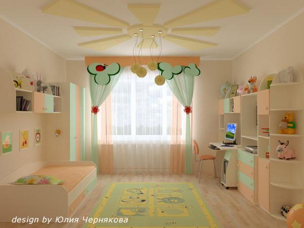 Дизайн детской комнаты для девочки